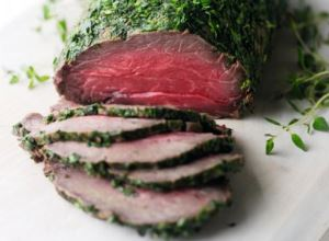 cured beef fillets with herbs